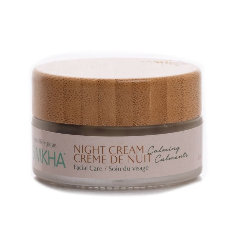 organic calming night cream, vegan, cruelty free, simkha